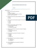 Cuestionario para identificar la experiencia de compra