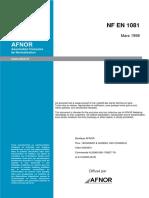 NF EN 1081 Sols-Résistance électrique