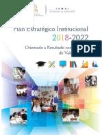 Plan Estratégico Institucional  2018-2022 12-06-19