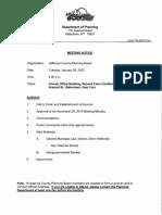 Jefferson County Planning Board agenda Jan. 28, 2020
