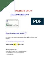 MANUALE non ufficiale GOLF 6 VW