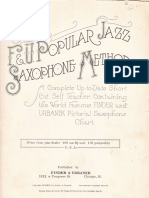 F&U Popular Jazz Saxophone Method
