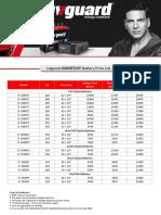 Livguard IB Dealers Pricelist May 2019
