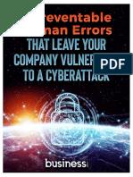 5 human errors