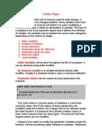 Notes of Visual Basic