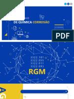 CORROSÃO - ENSAIO GERAL