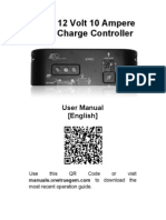12 Volt 10 Ampere Solar Charge Controller Manual