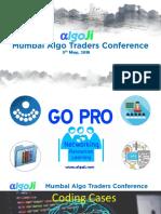 Algo Traders Conference - Mumbai