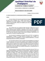 ACUERDO N° 1 - SUELDO DEL ALCALDE Y DIETA DE REGIDORE