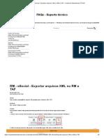 RM - eSocial - Exportar arquivos XML no RM e TAF – Central de Atendimento TOTVS