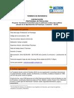 160928_ TdR Profesional en Psicología (Putumayo) - Código 235