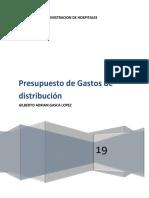 PRESUPUESTO DE GASTOS DE DISTRIBUCION