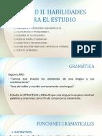 UNIDAD II. HABILIDADES PARA EL ESTUDIO