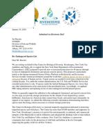 Endangered Et Al 2020-01-24 Center HR NYCA Comments Endangered Species List