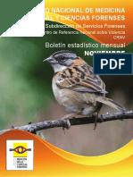 Boletin noviembre 2019. accidentalidad Medicina Legal