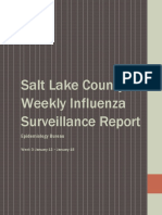 Salt Lake County Weekly Flu Report
