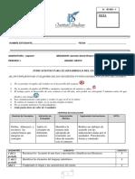 Examen 6,  ESPAÑOL periodo 1
