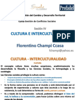 CULTURA - INTERCULTURALIDAD S4