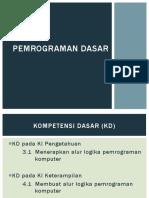 389106160 Pemrograman Dasar KD 1