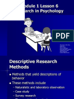 M1L6 for Psychology