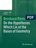 [Classic Texts in the Sciences] Bernhard Riemann (auth.), Jürgen Jost (eds.) - On the Hypotheses Which Lie at the Bases of Geometry (2016, Birkhäuser Basel).pdf