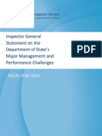 Inspector Report dated  Dec 2019 of U.S. State Department 38 Pages