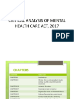 CRITICAL ANALYSIS OF MENTAL HEALTH CARE ACT,