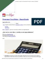 ¿Qué son los costos fijos y variables en mi emprendimiento