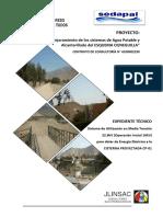 Sistema de Utilización en Media Tensión 22.9kV (Operación Inicial 10kV) para dotar de Energía Eléctrica a la CISTERNA PROYECTADA CP-01