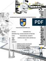 informe diseño de mezcla ACI 2018-1