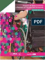 Programa de Apoyo Economico a Personas con Discapacidad PermanenteCDMX