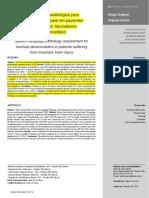 artigo Avaliação fonoaudiológica para decanulação traqueal em pacientes acometidos por traumatismo cranioencefálico