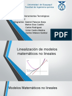Linealización de modelos matemáticos no lineales