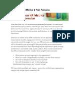 20 Common HR Metrics