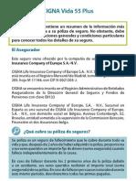 Caracteristicas Del Plan Vida55Plus WEB