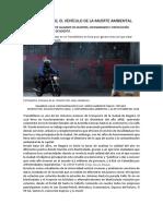 TRANSMILENIO, EL VEHÍCULO DE LA MUERTE AMBIENTAL.