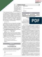 Aprueban el Documento Técnico Indicadores de Brechas de Infraestructura y Equipamiento del Sector Salud