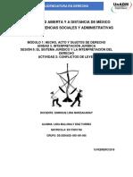 Actividad 2 Conflictos de Leyes