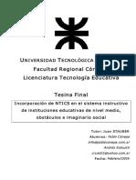 Tesina Final Licenciatura en Tecnologia Educativa UTN
