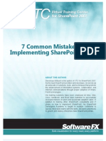 7 Common Mistakes in Implementing Share Point