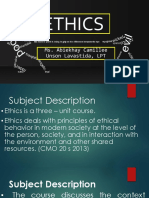 1. Introduction to Ethics