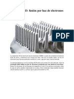 Impresión 3D (EBM)