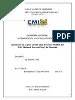Aplicación de la guía GEDIS a los Sistemas SCADA del NAP (Network Access Point) de Canarias