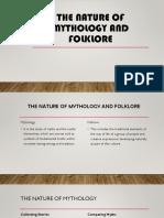 Nature of Mythology and Folklore