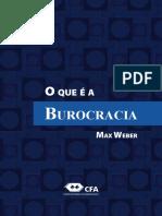 WEBER, Max. O que é a burocracia