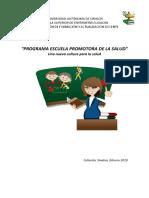 PROGRAMA ESCUELA PROMOTORA DE LA SALUD ESEC
