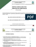 REFERENTES CURRICULARES PARA LA FORMACIÓN POR COMPETENCIAS