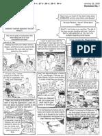 Worksheet 1-Comic Strip