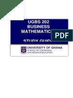 UGBS 202 Study Guide