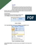 Cara Print Amplop Pakai Word 2007